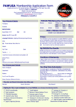 PAWUSA Membership Application Form 2013
