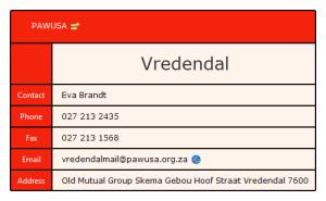 PAWUSA Vredendal