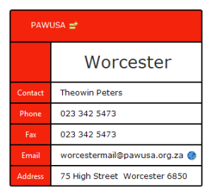 PAWUSA Worcester